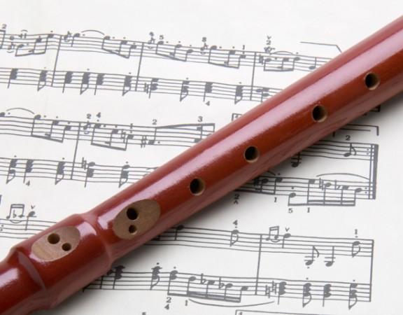 Flöte und Noten