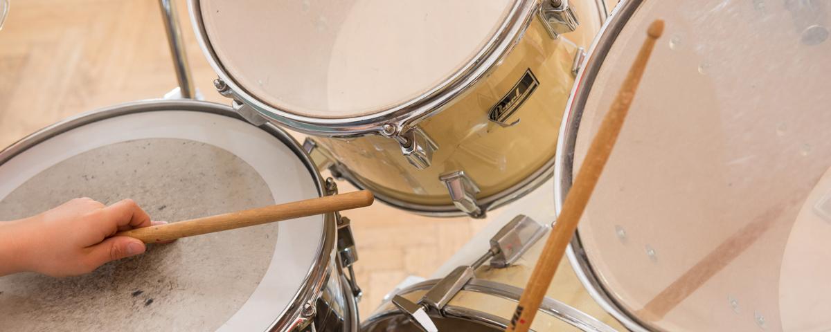Schlagzeug und Drum Sticks
