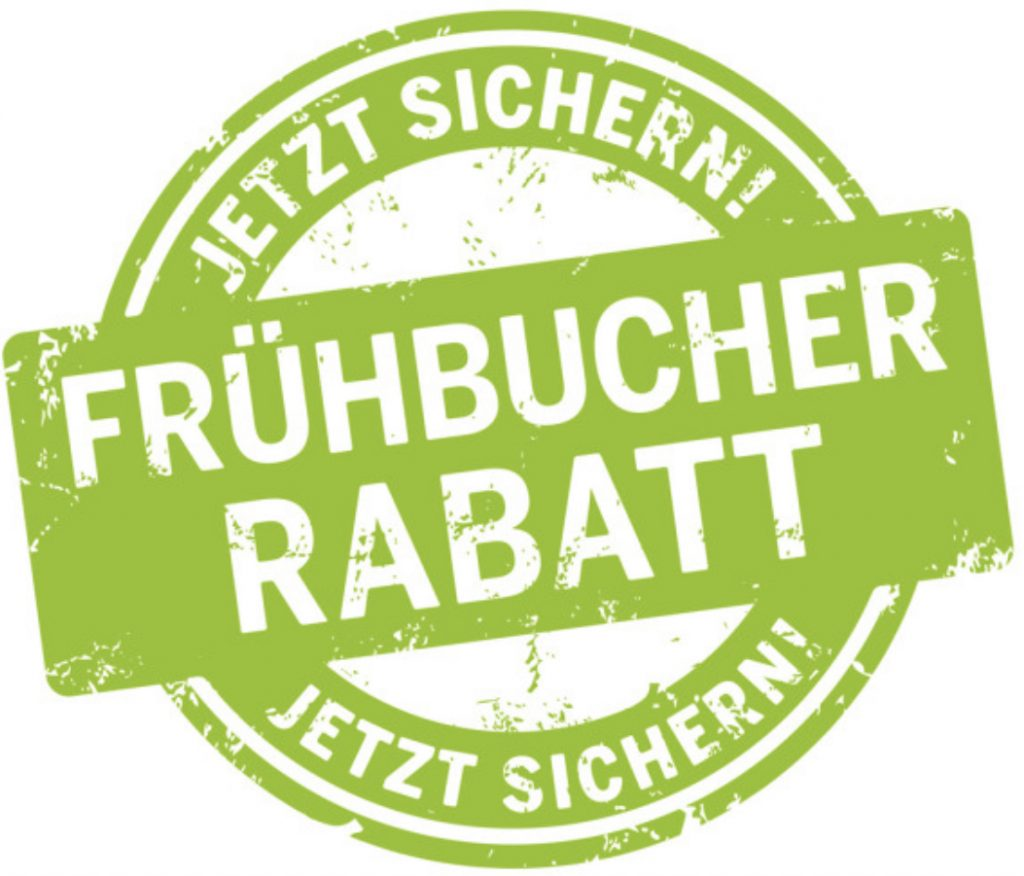 Frühbucher Rabatte